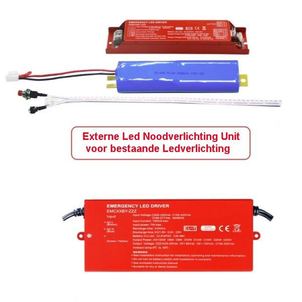 Led Noodverlichting Units-Kits Externe Led Noodverlichting Units-Kits voor bestaande Ledverlichting