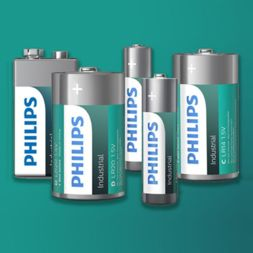 Philips Industrial alkaline batterijen